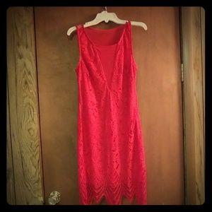 Red cottail dress